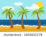 cartoon nature landscape with... | Shutterstock .eps vector #1043652178