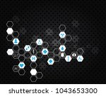 abstract molecules medical... | Shutterstock . vector #1043653300