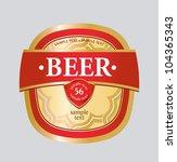 vector beer label | Shutterstock .eps vector #104365343