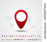 infographic world map ...   Shutterstock .eps vector #1043657164