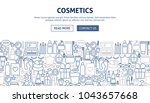cosmetics banner design. vector ... | Shutterstock .eps vector #1043657668