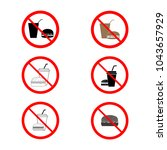 no food and drink set.... | Shutterstock .eps vector #1043657929