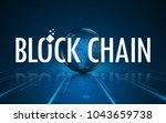 global networking block chain... | Shutterstock .eps vector #1043659738