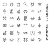 online store flat icon set.... | Shutterstock .eps vector #1043660038
