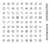 financial icon set. collection... | Shutterstock .eps vector #1043661943