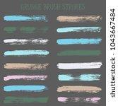 modern watercolor daubs set ... | Shutterstock .eps vector #1043667484