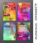 vector brochure flyer design... | Shutterstock .eps vector #1043668279