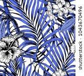 aloha hawaiian shirt seamless... | Shutterstock .eps vector #1043670496