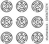 maze icon set | Shutterstock .eps vector #1043673274