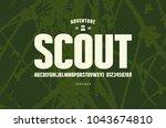 original sans serif font. bold... | Shutterstock .eps vector #1043674810