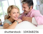 middle aged couple relaxing in... | Shutterstock . vector #104368256
