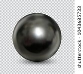 chrome metal ball realistic... | Shutterstock .eps vector #1043685733