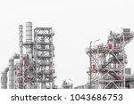 industrial zone the equipment... | Shutterstock . vector #1043686753