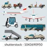passenger airport ground... | Shutterstock .eps vector #1043690950