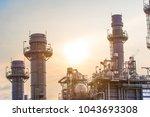 glow light of petrochemical... | Shutterstock . vector #1043693308
