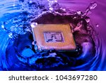 technology cyber electronic... | Shutterstock . vector #1043697280