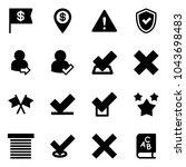 solid vector icon set   dollar... | Shutterstock .eps vector #1043698483