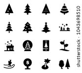 solid vector icon set  ... | Shutterstock .eps vector #1043698510