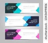 vector abstract design banner... | Shutterstock .eps vector #1043699806