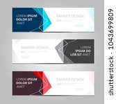 vector abstract design banner... | Shutterstock .eps vector #1043699809
