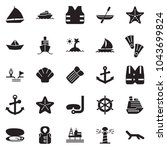 solid black vector icon set  ... | Shutterstock .eps vector #1043699824