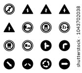 solid vector icon set   no... | Shutterstock .eps vector #1043702038