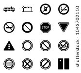 solid vector icon set   airport ...   Shutterstock .eps vector #1043702110