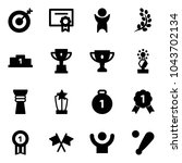 solid vector icon set   target... | Shutterstock .eps vector #1043702134
