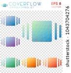 coverflow geometric polygonal... | Shutterstock .eps vector #1043704276