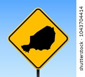 niger map road sign. square... | Shutterstock .eps vector #1043704414