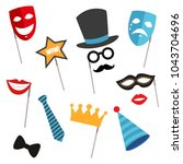 colored and isolated carnival...   Shutterstock .eps vector #1043704696