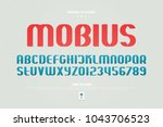 urban style alphabet letters... | Shutterstock .eps vector #1043706523