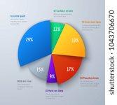 business 3d pie info chart for... | Shutterstock .eps vector #1043706670
