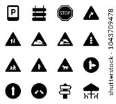 solid vector icon set   parking ... | Shutterstock .eps vector #1043709478