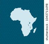 map of africa | Shutterstock .eps vector #1043711698