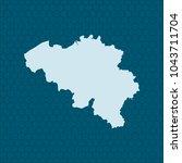 map of belgium | Shutterstock .eps vector #1043711704
