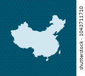 map of china | Shutterstock .eps vector #1043711710
