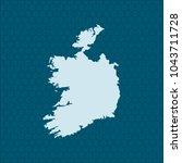 map of ireland | Shutterstock .eps vector #1043711728