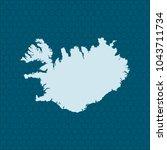 map of iceland | Shutterstock .eps vector #1043711734