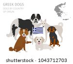 dogs by country of origin....   Shutterstock .eps vector #1043712703