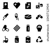 solid vector icon set   first... | Shutterstock .eps vector #1043712904