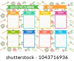 healthy diet planning. weekly... | Shutterstock .eps vector #1043716936