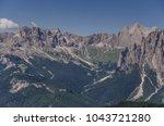 catinaccio rosengarten mountain ... | Shutterstock . vector #1043721280