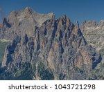 catinaccio rosengarten mountain ... | Shutterstock . vector #1043721298