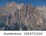 catinaccio rosengarten mountain ... | Shutterstock . vector #1043721310