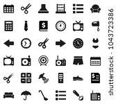 flat vector icon set   ladle...