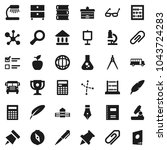flat vector icon set   book... | Shutterstock .eps vector #1043724283
