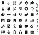 flat vector icon set   kettle... | Shutterstock .eps vector #1043725600