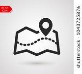 tourist map icon logo. pin...   Shutterstock .eps vector #1043725876