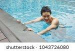 handsome asian wet sexy... | Shutterstock . vector #1043726080